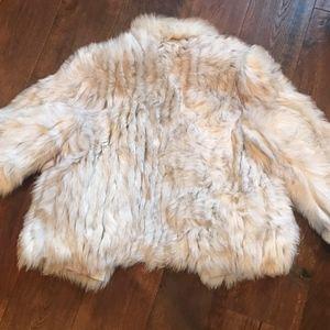 Saga Fox Fur Coat Off-White Ivory Vintage Fur